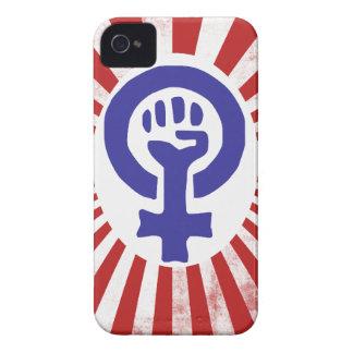Símbolo feminista iPhone 4 Case-Mate funda
