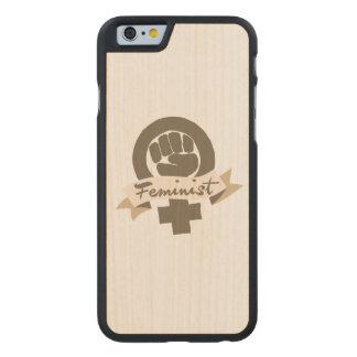 Símbolo feminista funda de iPhone 6 carved® slim de arce