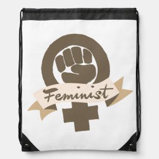 Símbolo feminista mochilas