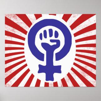 Símbolo feminista impresiones