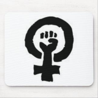 Símbolo feminista tapete de ratón