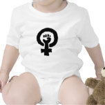 Símbolo feminista trajes de bebé