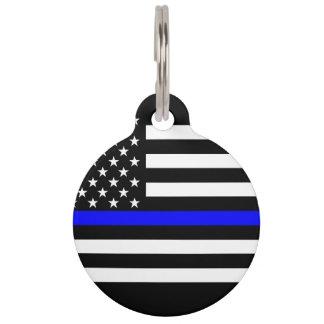 Símbolo fino de América Blue Line Identificador Para Mascota