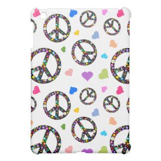 Símbolo, flores y corazones de paz colorido