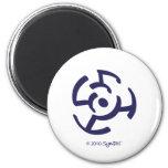 Símbolo frustrado púrpura de SymTell Imanes De Nevera