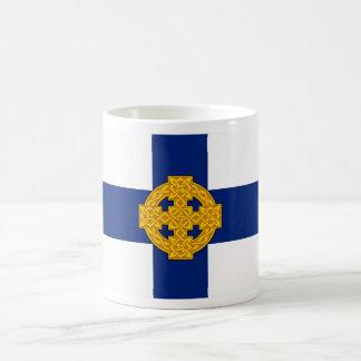 símbolo galés británicos de la bandera de la taza