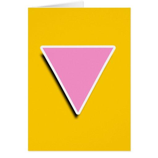 SÍMBOLO GAY 3D del TRIÁNGULO Felicitacion