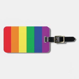 Símbolo gay de la bandera del orgullo de la libert etiquetas para equipaje