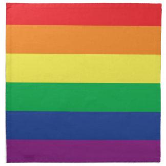 Símbolo gay de la bandera del orgullo de la libert servilleta de papel