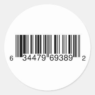 Símbolo genérico del UPC para las ventas CD Pegatinas Redondas