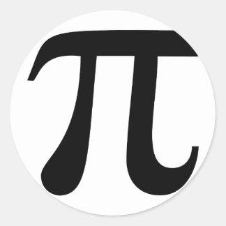 """Símbolo gigante del """"pi"""" pegatina redonda"""