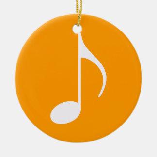 símbolo gráfico de la nota musical adorno redondo de cerámica