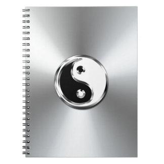 Símbolo gráfico de Yin-Yang de la pendiente de ace Libretas