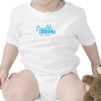 Símbolo gráfico del Deuce del jaspe del logotipo Trajes De Bebé