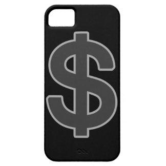 símbolo gráfico del dinero del b&w funda para iPhone SE/5/5s
