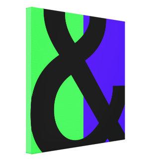 "Símbolo grande del signo ""&"" impresion de lienzo"