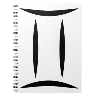 símbolo griego del horóscopo del zodiaco de la libretas espirales