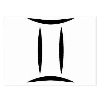 símbolo griego del horóscopo del zodiaco de la postal