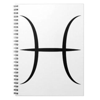 símbolo griego del horóscopo del zodiaco de la spiral notebooks