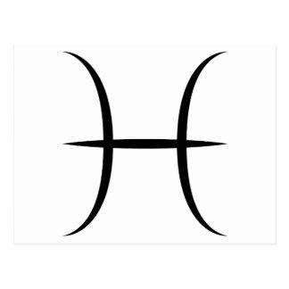 símbolo griego del horóscopo del zodiaco de la tarjeta postal