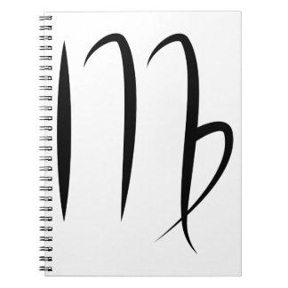 símbolo griego del zodiaco del horóscopo de la notebook