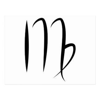 símbolo griego del zodiaco del horóscopo de la tarjeta postal