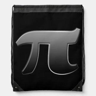 Símbolo gris del pi para los empollones de la mochila