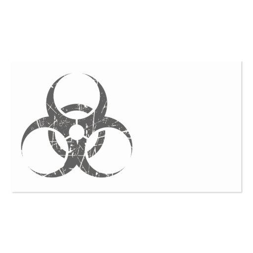 Símbolo gris rasguñado del Biohazard Tarjeta De Visita