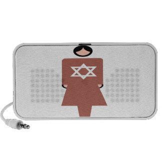 Símbolo hebreo de la mujer iPhone altavoz