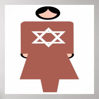 Símbolo hebreo de la mujer impresiones