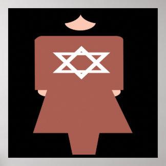 Símbolo hebreo de la mujer posters