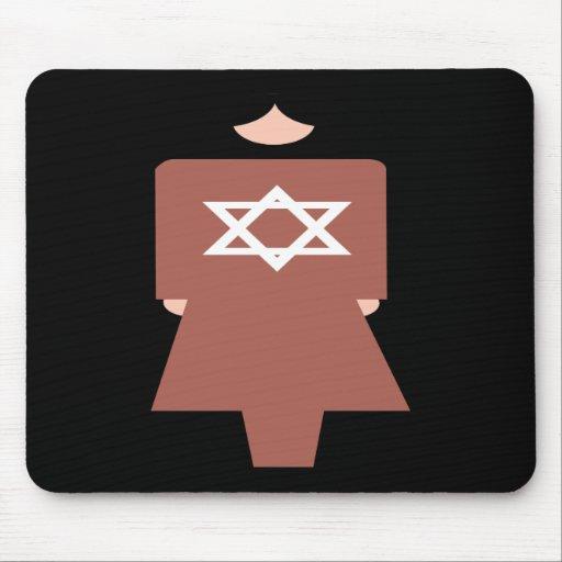 Símbolo hebreo de la mujer tapete de ratones