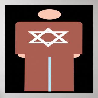 Símbolo hebreo del hombre poster