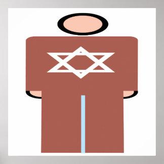 Símbolo hebreo del hombre posters