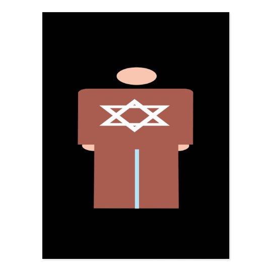 Símbolo hebreo del hombre tarjeta postal