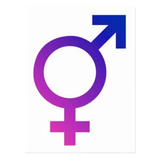 Símbolo hermafrodita del orgullo del género del postal