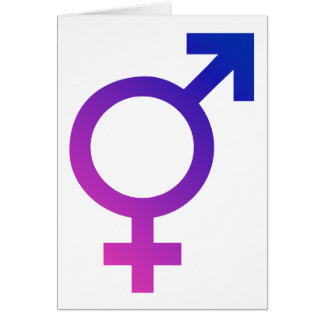 Símbolo hermafrodita del orgullo del género del tr tarjeta de felicitación