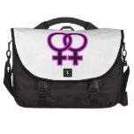 Símbolo homosexual femenino bolsas de portatil