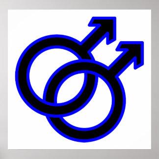 Símbolo homosexual masculino póster