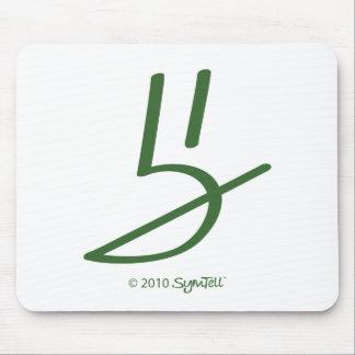 Símbolo honesto verde de SymTell Tapete De Ratones