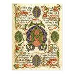 Símbolo iluminado que representa el festival del a tarjetas postales