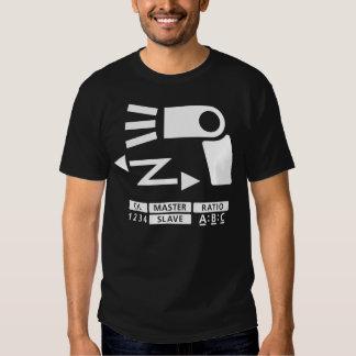 Símbolo inalámbrico del flash de la apagado-cámara playeras