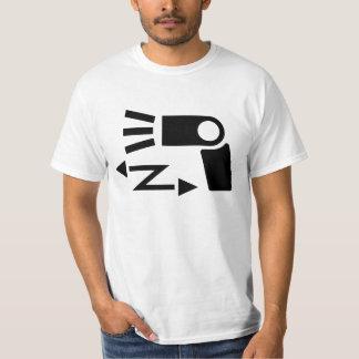 Símbolo inalámbrico del flash de la apagado-cámara polera