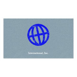 Símbolo inclinado de la prensa de copiar del globo tarjetas de visita