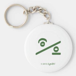 Símbolo indeciso verde de SymTell Llavero Redondo Tipo Pin