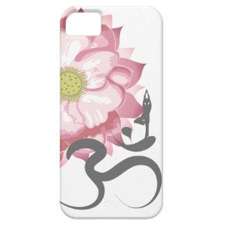 Símbolo indio de OM del espiritual de Lotus de la iPhone 5 Fundas