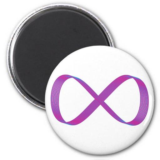 Símbolo infinito infinity imán redondo 5 cm