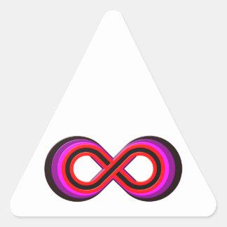Símbolo infinito infinity pegatina triangular
