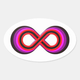 Símbolo infinito infinity pegatina ovalada