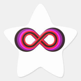 Símbolo infinito infinity pegatina en forma de estrella
